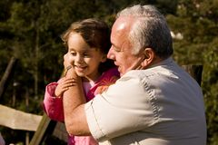 Grootvader en kleindochter Royalty-vrije Stock Fotografie