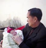 Grootvader en kleinkind Stock Afbeelding