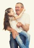 Grootvader en kleinkinderenportret Royalty-vrije Stock Afbeelding