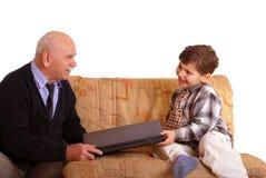 Grootvader en kleinzoon Royalty-vrije Stock Afbeelding