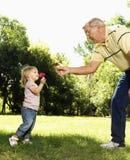 Grootvader en meisje Stock Fotografie