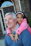Grootvader met Kleinkind Stock Afbeelding