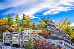 Grootvaderberg, de Herfst van Noord-Carolina, de V.S. royalty-vrije stock afbeelding