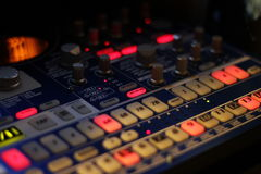 Groove Box. The knobs and buttons of groove box Royalty Free Stock Image