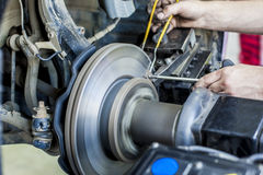 Groove brake disc Royalty Free Stock Photography