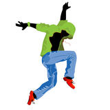 Groove dancer. Isolated object over white background vector illustration