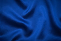 Grooved blue fabric for background Stock Photography