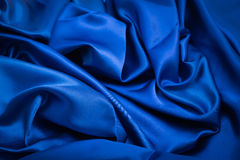 Grooved blue fabric background. And texture Royalty Free Stock Photos