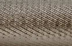 Grooved metal surface. Sepia tones Stock Image