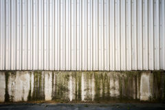 Grooved metal wall Royalty Free Stock Images