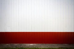 Grooved metal wall Royalty Free Stock Photos