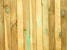 Grooved pine boards with knots. Top view of wooden table. Grooved pine boards with knots Stock Photography