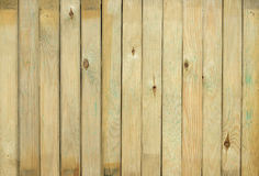 Grooved pine boards with knots. Top view of wooden table. Grooved pine boards with knots Royalty Free Stock Photo