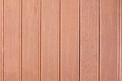 Grooved wood plank wall or floor panel Royalty Free Stock Image