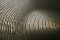 Grooves On A Symbal Royalty Free Stock Images