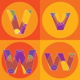 groovy τετράγωνα γραμμών αλφάβητ&o απεικόνιση αποθεμάτων
