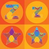 groovy τετράγωνα γραμμών αλφάβητ&o ελεύθερη απεικόνιση δικαιώματος