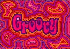 groovy vektor illustrationer