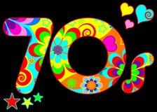 Groovy 70s disco design stock photo