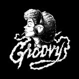 Groovy afro music creative illustration royalty free illustration