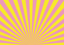 Groovy background. Vectorial groovy background - yellow and pink royalty free illustration