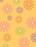 Groovy Blumenhintergrund Lizenzfreie Stockbilder