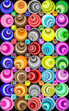 Groovy circles illusion design Stock Image