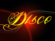 Groovy Disco Means Dancing Party And Music. Groovy Disco Meaning Dancing Party And Music royalty free illustration