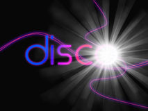 Groovy Disco Means Dancing Partying And Music vector illustration
