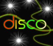 Groovy Disco Means Dancing Partying And Music Royalty Free Stock Image