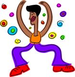 Groovy dude. Funky disco ethnic guy - abstract life series Royalty Free Stock Photos