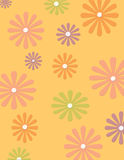 Groovy flower background. Paper design stock illustration
