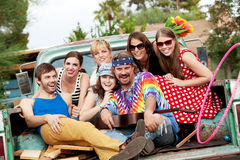 Groovy Group in the Back of Truck Royalty Free Stock Images