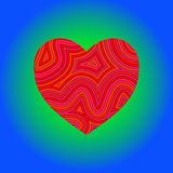 Groovy Heart. A groovy heart with psychedelic swirls stock illustration