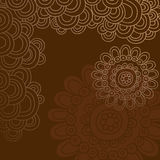 Groovy Henna Doodle Circles Border Vector. Groovy Hand-drawn Henna Doodle Circles Border Vector Illustration Royalty Free Stock Photo