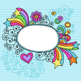 Groovy Large Oval Frame Notebook Doodle Vector Royalty Free Stock Photography