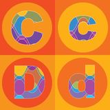 Groovy lines ALPHABETS quads Royalty Free Stock Image