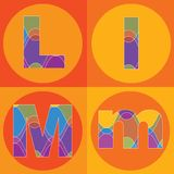 Groovy lines ALPHABETS quads. Funky groovy lines ALPHABETS quads (vector) - part of a complete set vector illustration