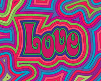 Groovy Love vector illustration