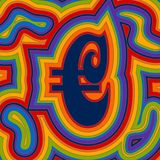 Groovy Money - Rainbow Euro Stock Photography