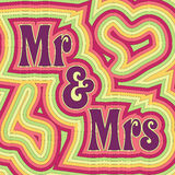 Groovy Mr & Mrs Stock Photo