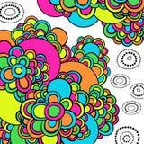 Groovy psychedelischer Auszug kritzelt Vektor stock abbildung
