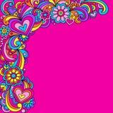 Groovy psychedelischer Gekritzel-Vektor lizenzfreie abbildung