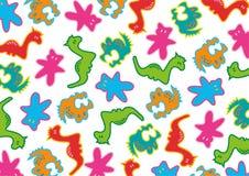 Groovy Spielwarenmuster Stockbild