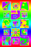 Groovy squares Royalty Free Stock Photos