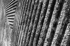 Groovy texture of the concrete wall in the park royalty free stock photo