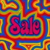 Groovy Verkauf - Regenbogen Stockfotografie