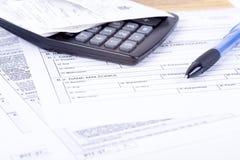 Grop för skattförklaring Arkivfoton
