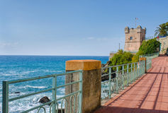 Gropallo Tower in Genoa Nervi Royalty Free Stock Images