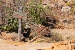 Gropar i Bourkes lycka, Sydafrika royaltyfria foton
